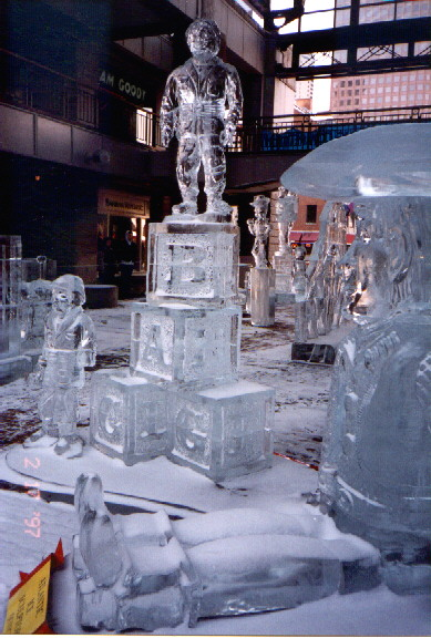 Toy Story ice sculpture